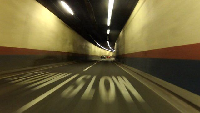 The Queensway tunnel in Birmingham