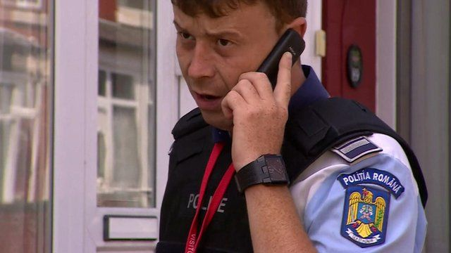 A Romanian police officer helping in Birmingham