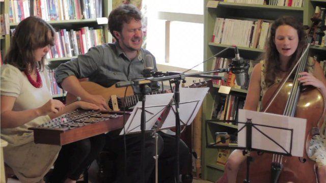 The Bookshop Band: Poppy Pitt, Ben Please and Beth Porter