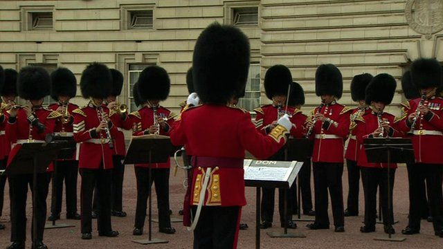 The Royal Guards at Buckingham Palace