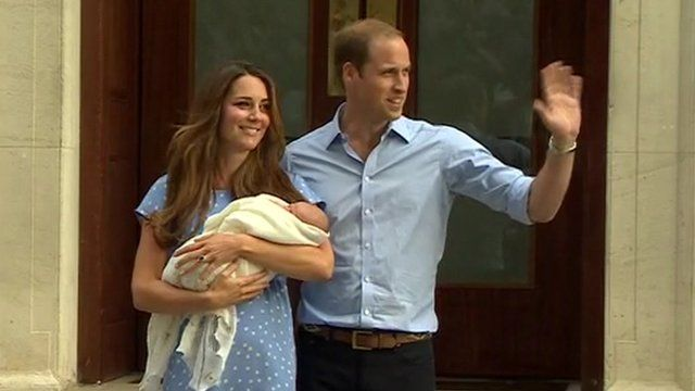 The Duke and Duchess of Cambridge with their new baby