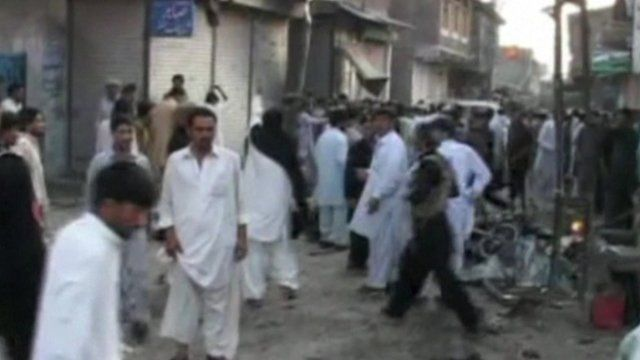 Scene of Pakistan market blast