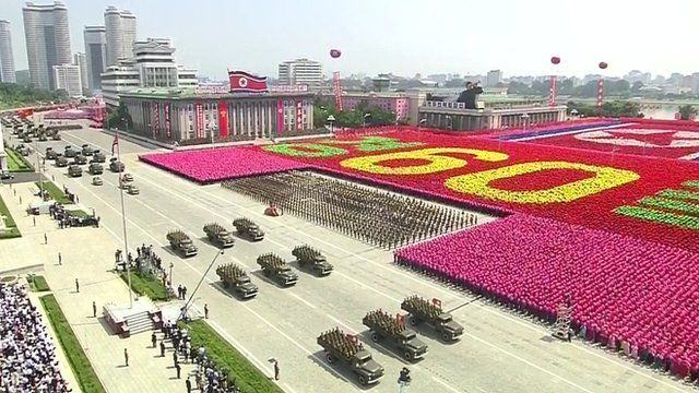 Parade in Pyongyang