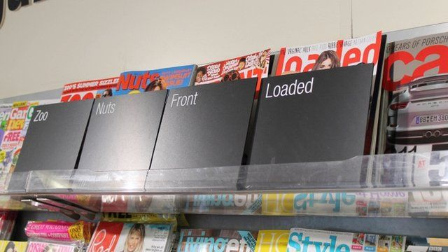 Lads mags on shelf