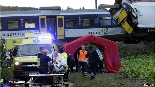 Scene of Swiss train crash
