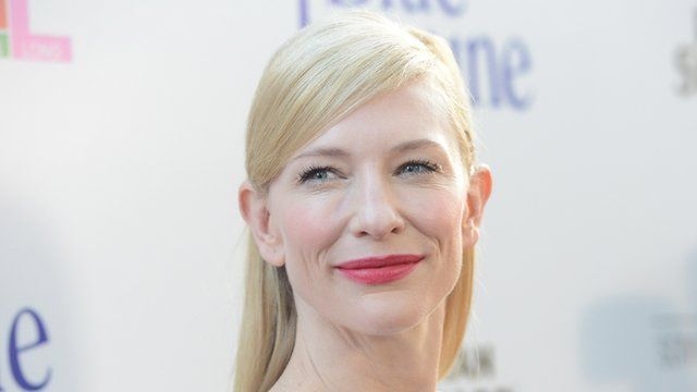 Cate Blanchett at a Blue Jasmine screening