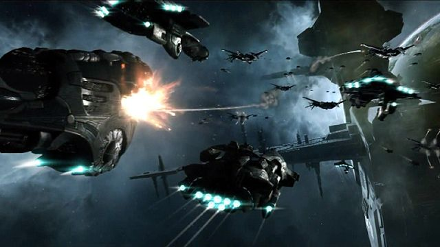 A scene from Eve Online