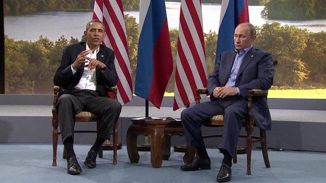 Obama and Putin at G8 summit in June 2013