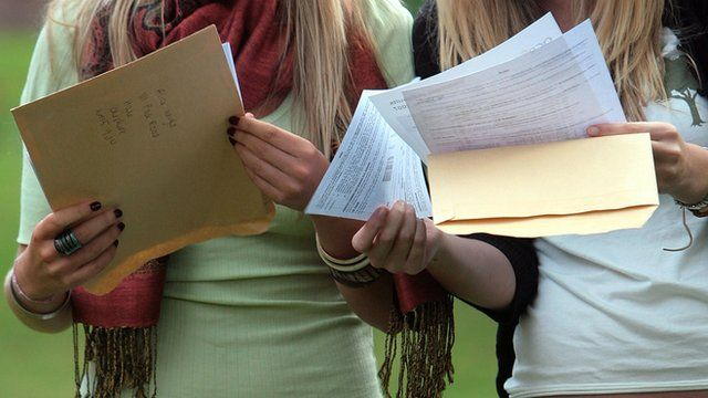 Students receive A level results