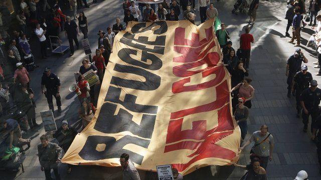 Australians marching in support of asylum seekers