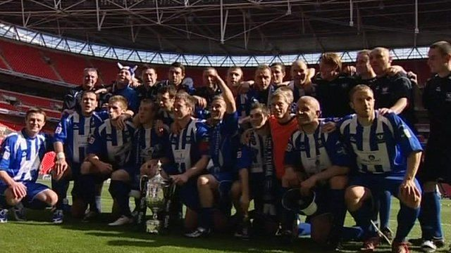 Mark Taylor won the FA Vase with Whitley Bay at Wembley