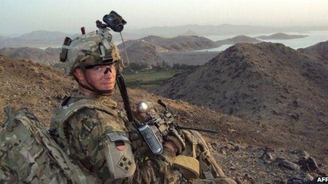US Army Staff Sgt Ty Carter in Dahla Dam, Afghanistan July 2012