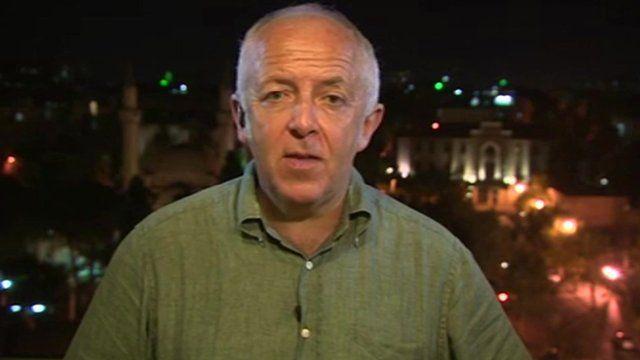 Jeremy Bowen in Damascus