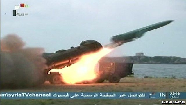 Syrian State TV shows images of military hardware