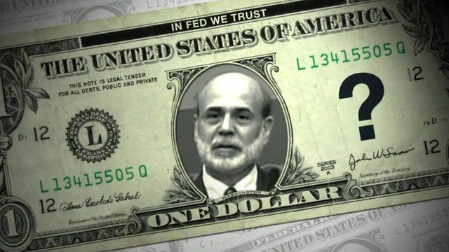 A US dollar bill with Ben Bernanke's portrait on the front