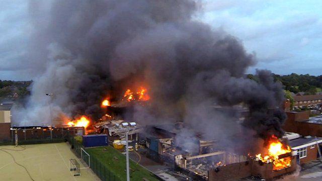 Leyland Fire Aerial Footage Of St Mary S Catholic