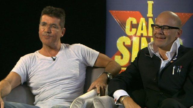 Simon Cowell and Harry Hill