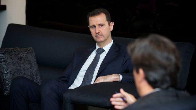 A handout picture released by the Syrian presidency media office and made on September 2, 2013 shows President Assad