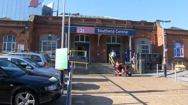 External view of Southend Central