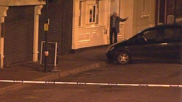 Man outside of pub