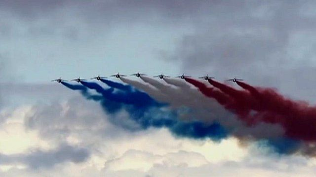 The Patrouille de France aerial display team