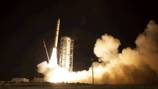 LADEE probe lifts off