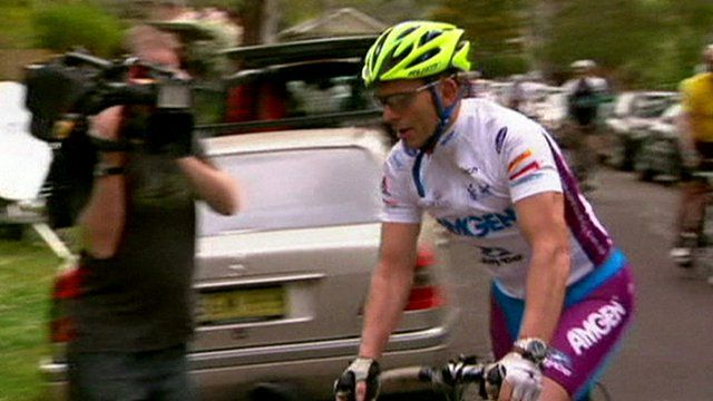 Prime Minister-elect Tony Abbott on his bicycle