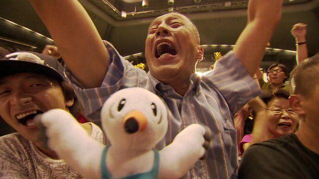 People in Japan celebrating