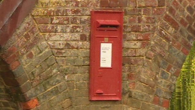 Sonning-on-Thames bridge letterbox