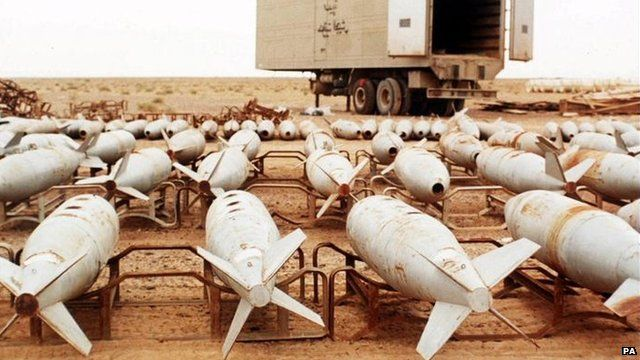 Bombs filled with biological and chemical agents
