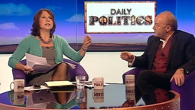 Jo Coburn and George Galloway