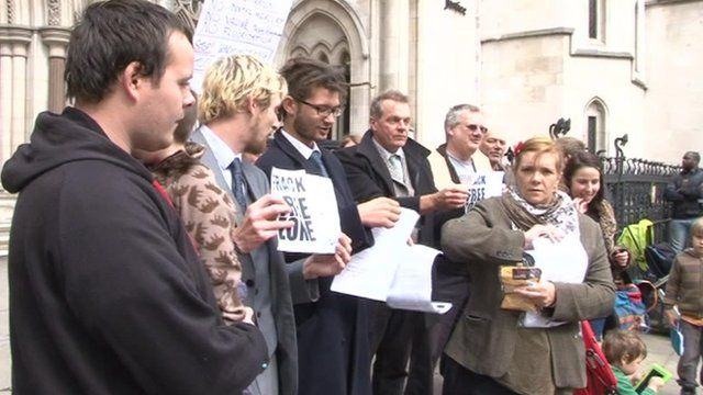Anti-fracking campaigners at High Court