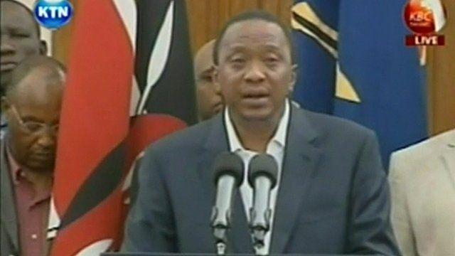 Kenya's President Uhuru Kenyatta