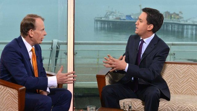 Ed Miliband talking to Andrew Marr