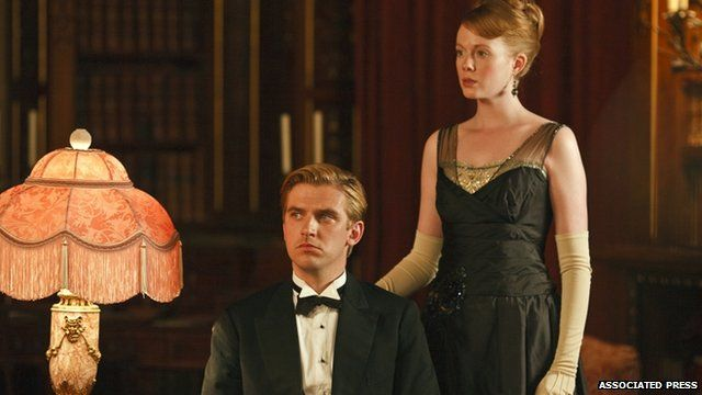 Downton Abbey (seen here are Dan Stevens as Matthew Crawley and Zoe Boyle as Lavinia Swire)