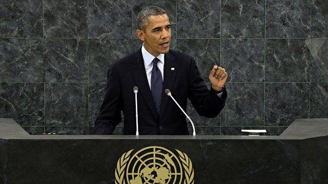 President Barack Obama addresses the UN General Assembly