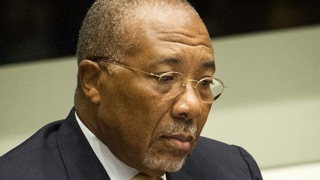 Former president of Liberia Charles Taylor