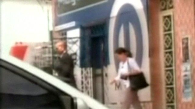 Footage broadcast on Venezuelan state TV is said to show US officials leaving offices linked to the opposition