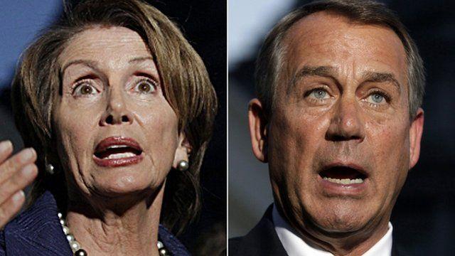 Nancy Pelosi and John Boehner