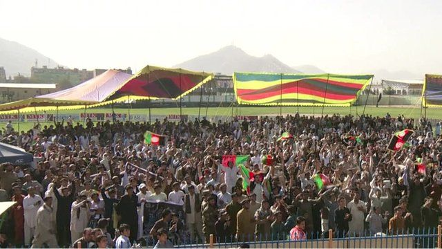 Afghans celebrate their historic qualification for the 2015 cricket World Cup
