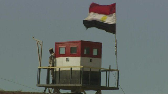 A military watch tower in Egypt