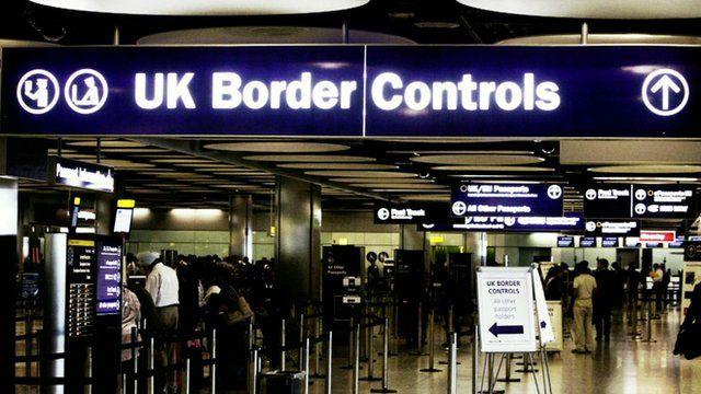 UK border control checkpoint