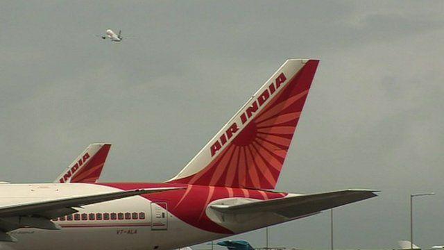 Air India plane tail