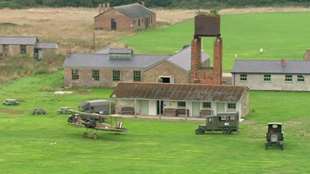 Aerial view of Stow Maries airfield