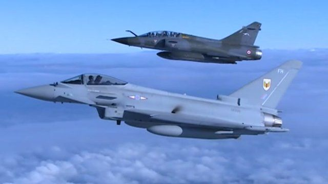Jets on exercise over North Yorkshire