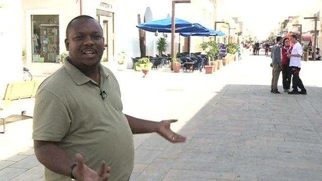 The BBC's Kassim Kayira in Lampedusa