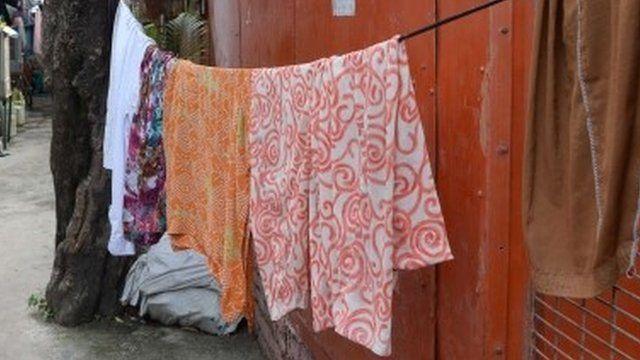 A slum in India