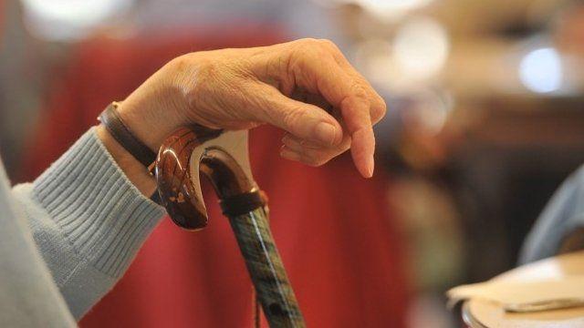 Elderly woman's hand