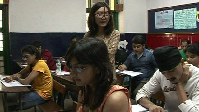 Chinese teacher in Mumbai lesson