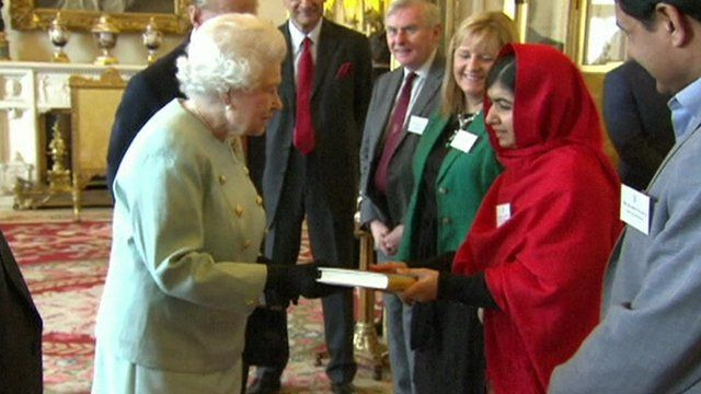 The Queen and Malala Yousafzai
